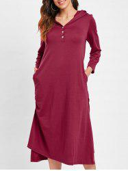 High Low Hooded Tunic Dress -