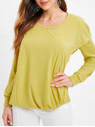 Faux Twinset Hooded Pullover T Shirt -
