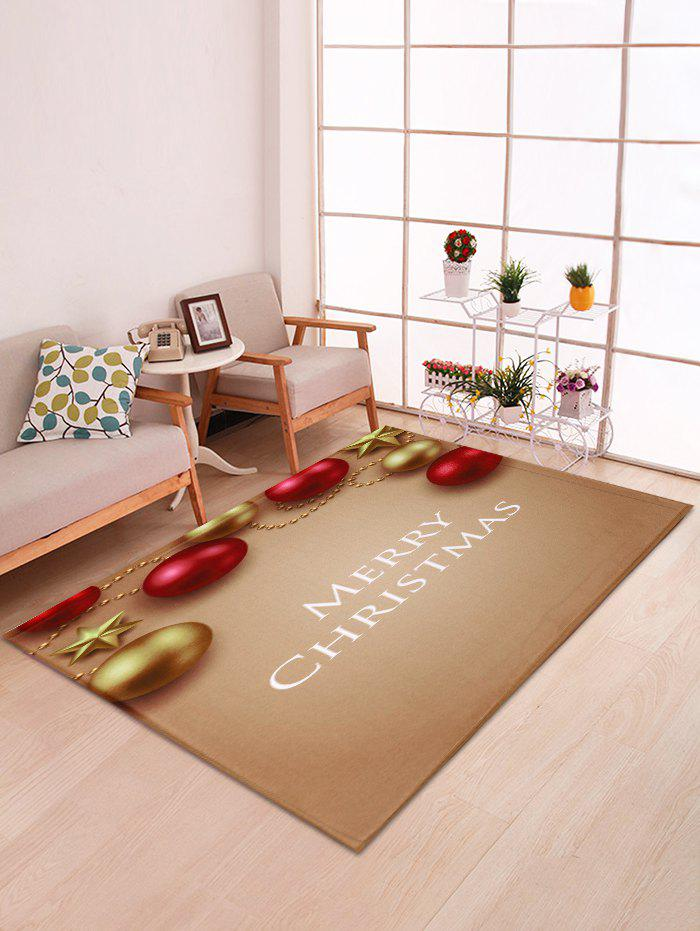 Outfit Christmas Ball and Star Print Decorative Bath Mat