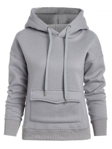 Front Pockets Pullover Hoodie