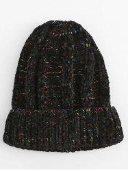 Winter Colormix Flanging Knitted Beanie -