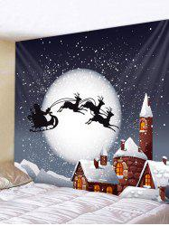 Christmas Night Castle Print Tapestry Wall Hanging Decoration -