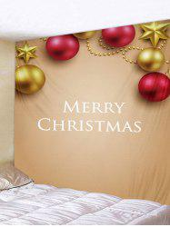 Merry Christmas 3D Ball Printed Tapestry Art Decoration -