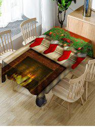 Christmas Fireplace Print Waterproof Dining Tablecloth -