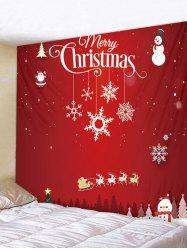 Father Christmas Elk Snowman Printed Tapestry Art Decoration -