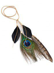Indian Peacock Artifical Feather Hairband -
