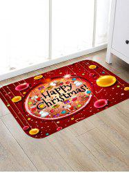 Baubles Printed Anti-skid Christmas Area Rug -