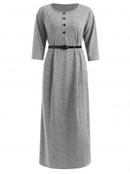 Plus Size Belted Maxi Tee Dress -