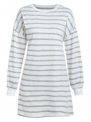 Striped Tee Dress with Drop Shoulder -