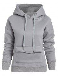 Front Pockets Pullover Hoodie -