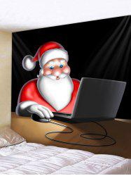 Father Christmas Play Computer Tapestry Art Decoration -