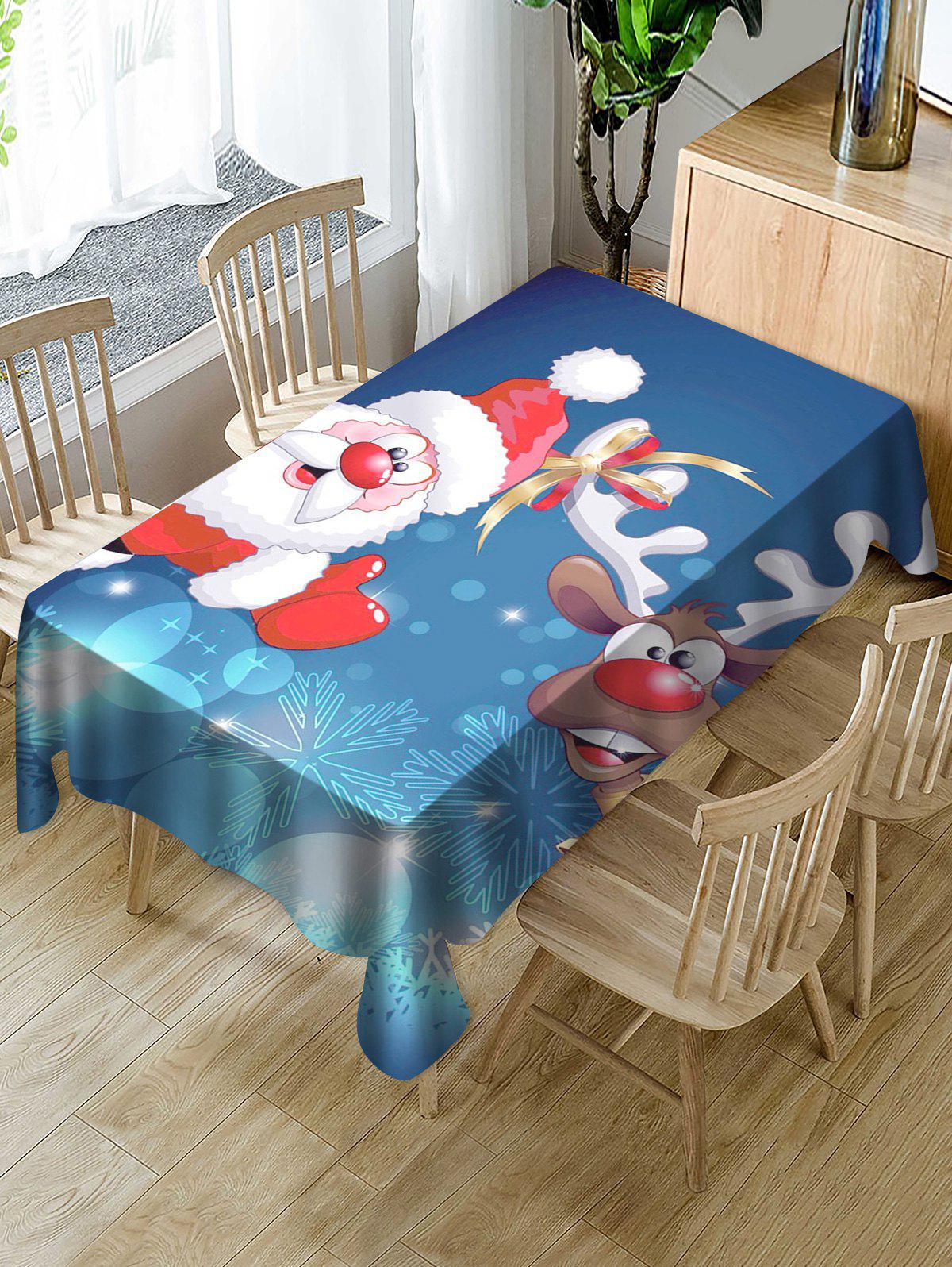 Affordable Funny Santa Claus Printed Dining Tablecloth