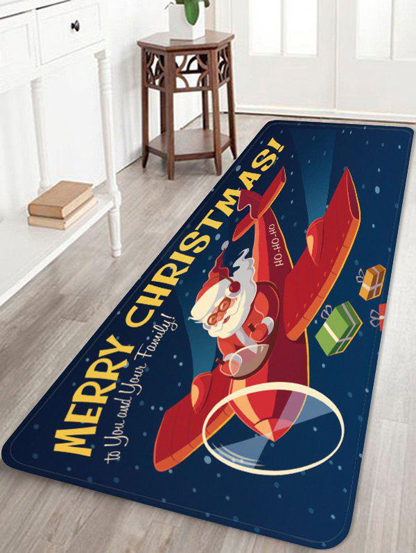Buy Plane and Santa Claus Printed Anti-skid Floor Rug
