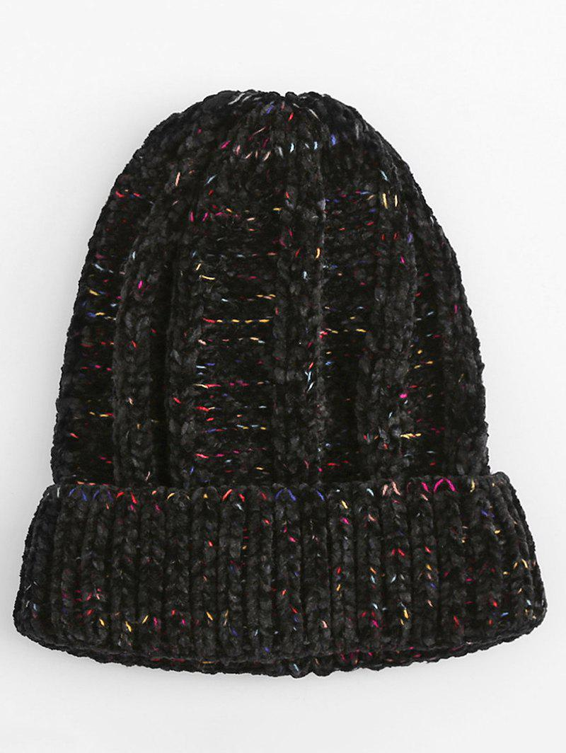 Fancy Winter Colormix Flanging Knitted Beanie