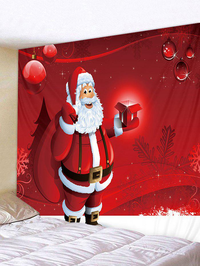 Multi W59 X L51 Inch Father Christmas Gift Printed Tapestry Art ...