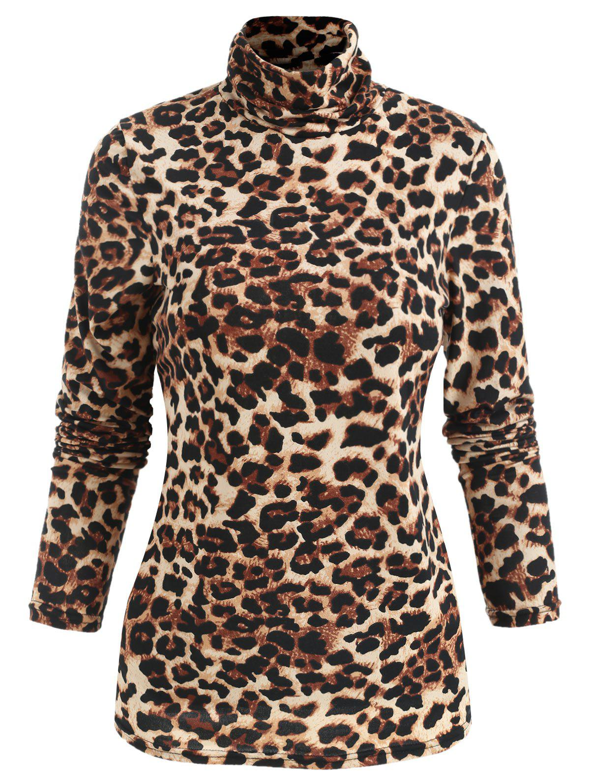 Best Long Sleeve Leopard Print T-shirt