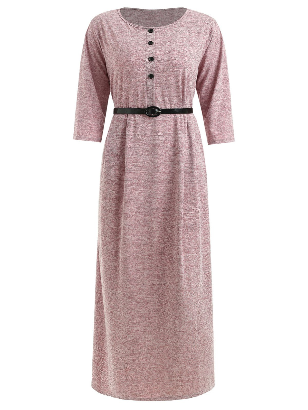 Plus Size Belted Maxi Tee Dress