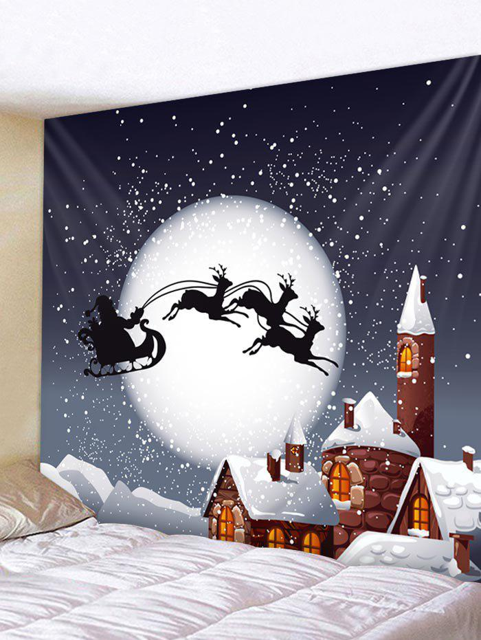 Shops Christmas Night Castle Print Tapestry Wall Hanging Decoration