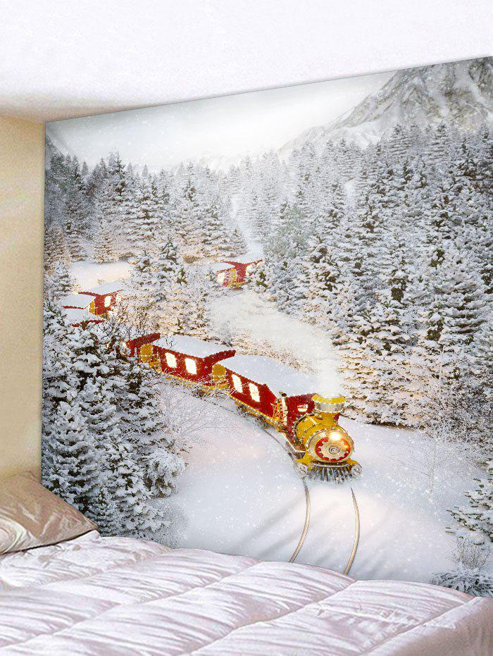 Online Christmas Train Printed Tapestry Art Decoration