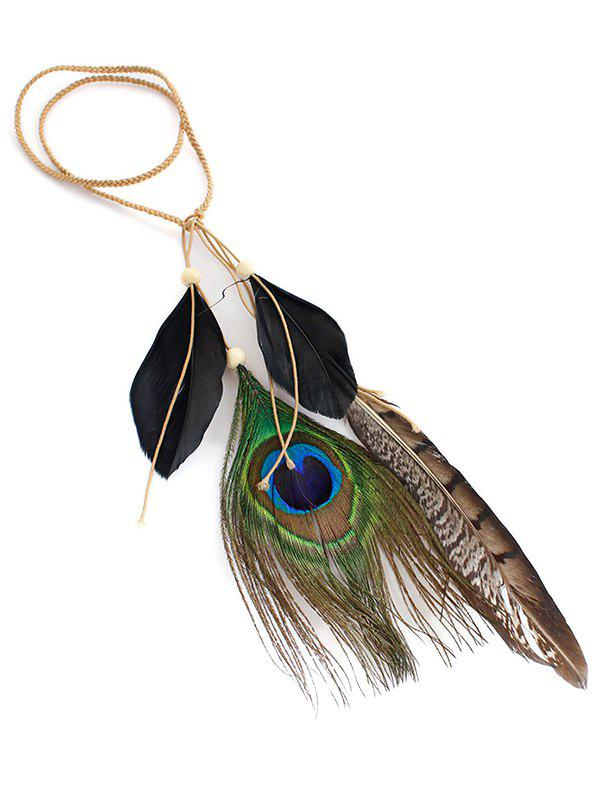Shop Indian Peacock Artifical Feather Hairband