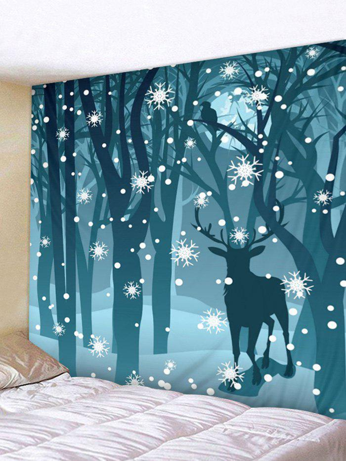 Store Christmas Deer Forest Print Tapestry Wall Hanging Decoration