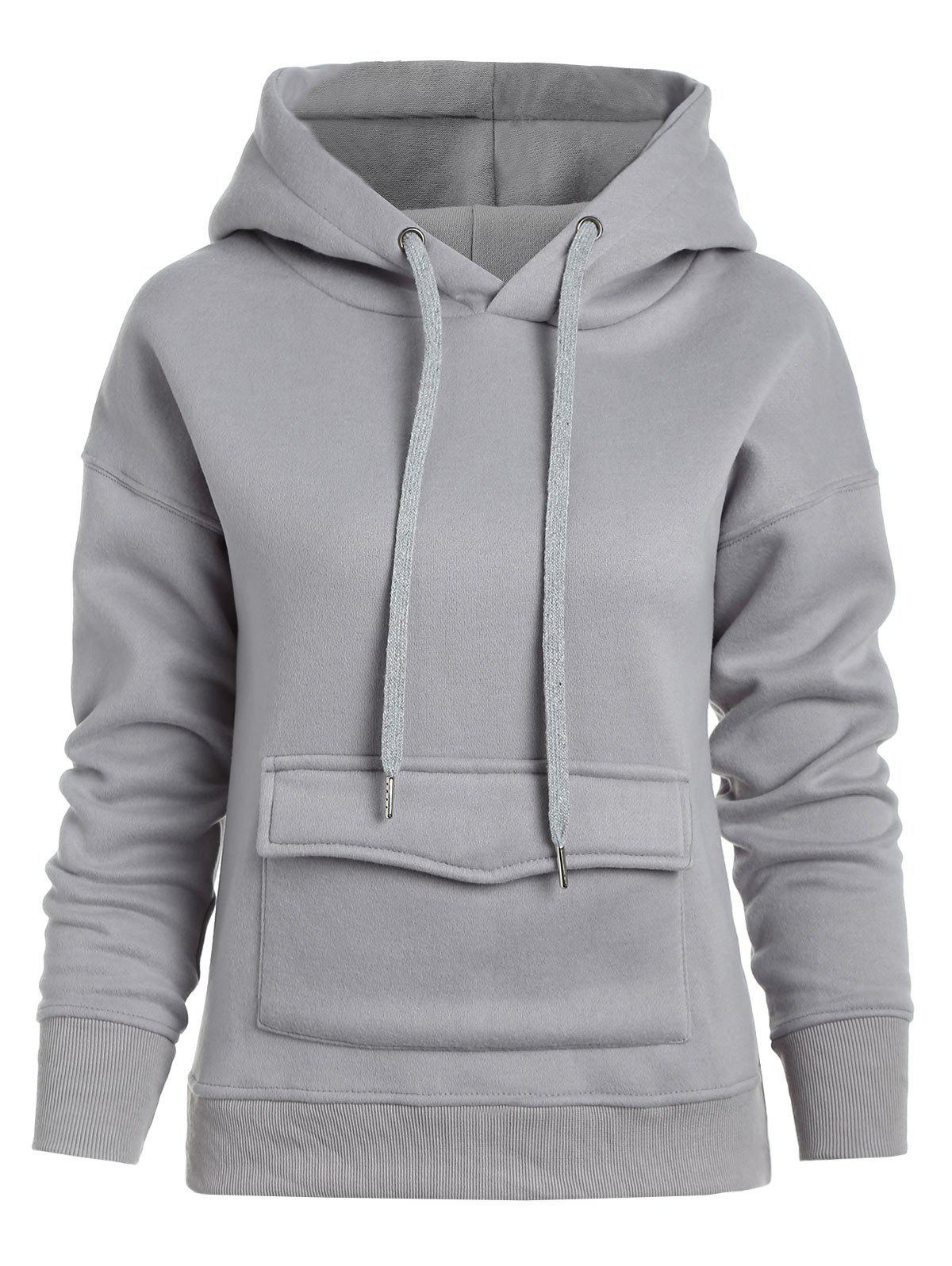 Affordable Front Pockets Pullover Hoodie