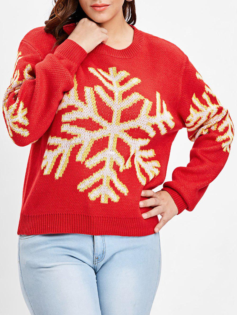 ba769ffb0d 2019 Plus Size Christmas Snowflake Sweater