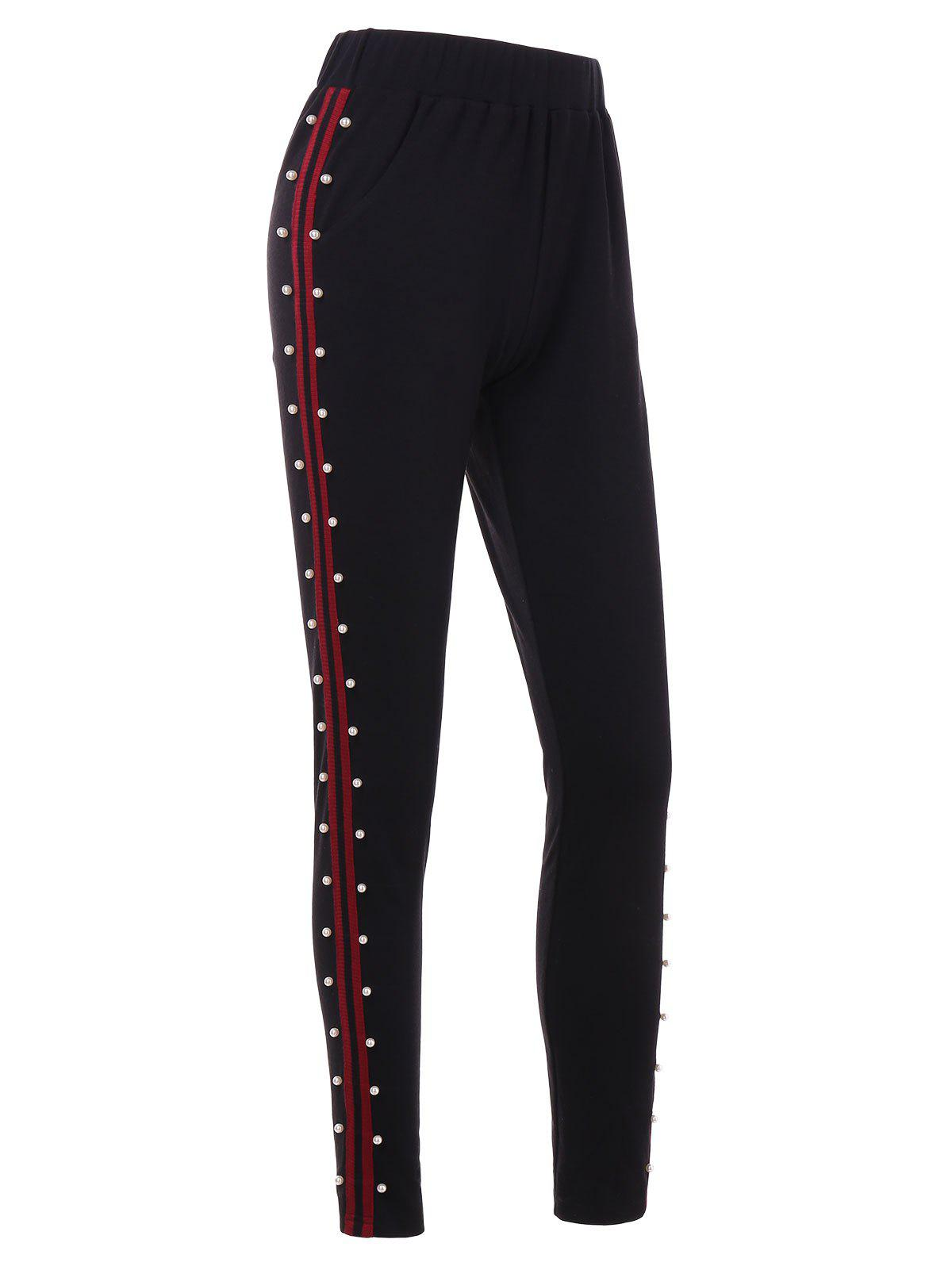Outfit Beading Brim Fitted Pants