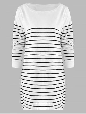 Striped Longline Pullover T Shirt