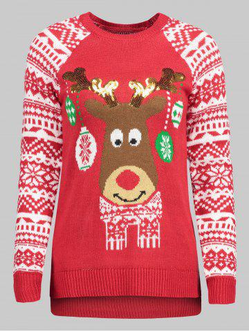 57 plus size elk christmas sweater