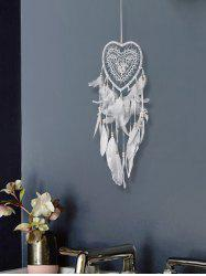 Feathers Fringed Handmade Heart Dream Catcher -