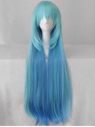 Long Colormix Braided Straight Cosplay Party Synthetic Wig -