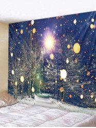 Christmas Night Snowflake Printed Tapestry Art Decoration -