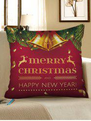 Merry Christmas Bell Printed Pillowcase -