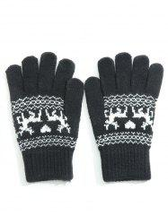 Vintage Elk Heart Full Finger Gloves -