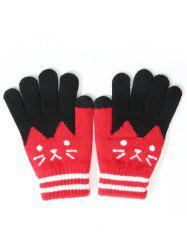 Stylish Full Finger Cartoon Warm Gloves -