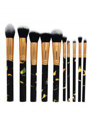 10Pcs Marble Handles Eyeshadow Blending Blush Liquid Foundation Brush Set -