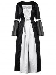 Two Tone Long Sleeve Halloween Party Dress -