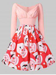 Christmas Santa Clause Print Vintage Dress -