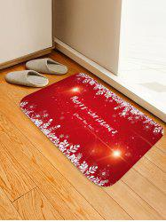 Merry Christmas Pattern Anti-skid Flannel Area Rug -