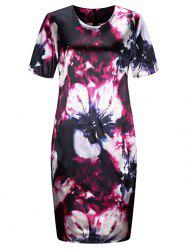 Plus Size Floral Tight Dress -