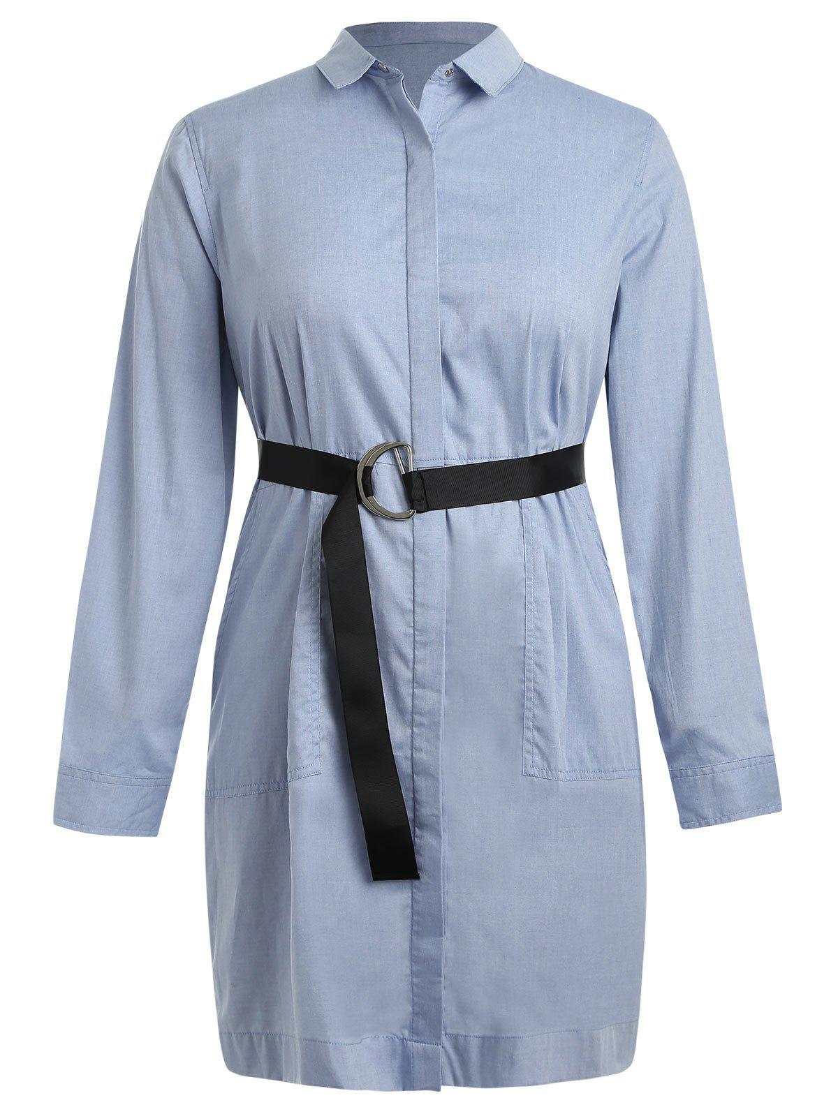 Best Plus Size Shirt Dress with Belt