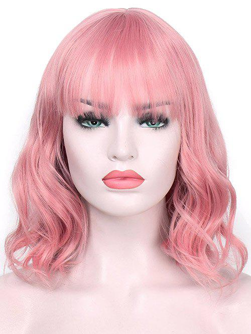 Online Short Neat Bang Wavy Lolita Cosplay Synthetic Wig