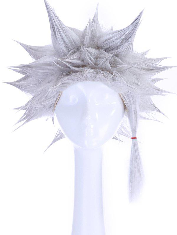 Best Anime Cosplay Short Straight Tail Upwards Synthetic Wig