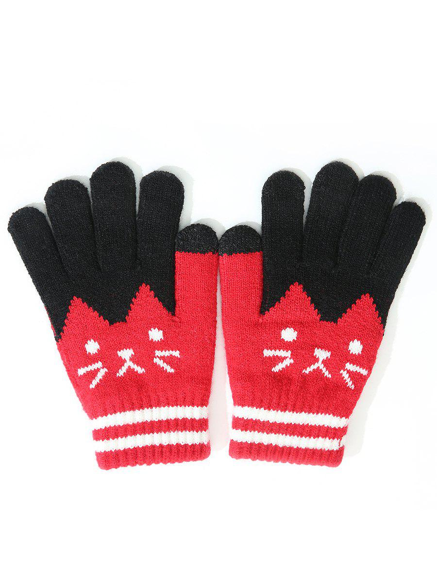 Hot Stylish Full Finger Cartoon Warm Gloves
