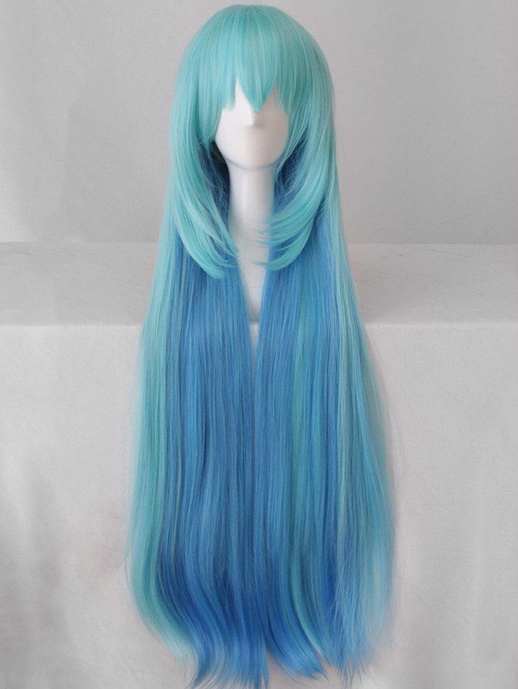 Cheap Long Colormix Braided Straight Cosplay Party Synthetic Wig