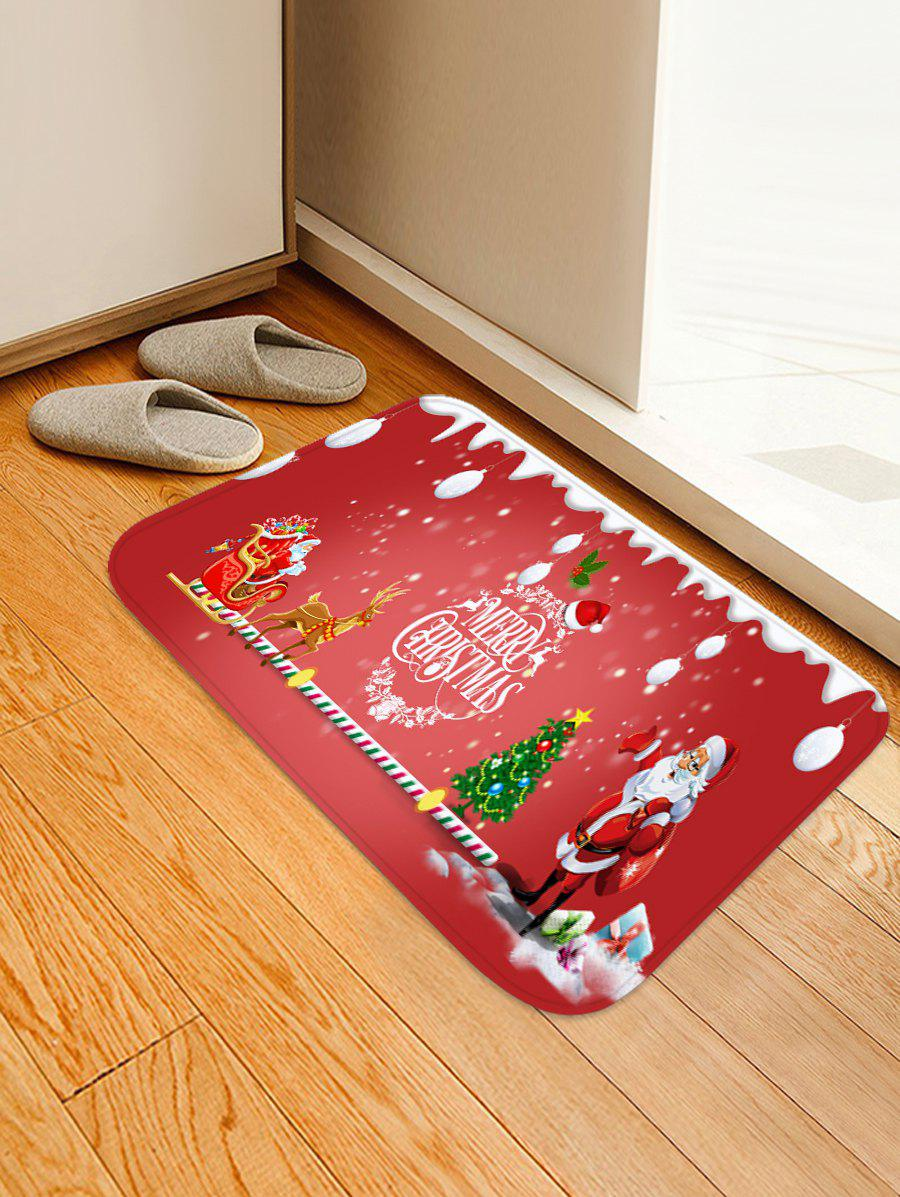 Outfits Father Christmas Elk Printed Non-slip Area Rug