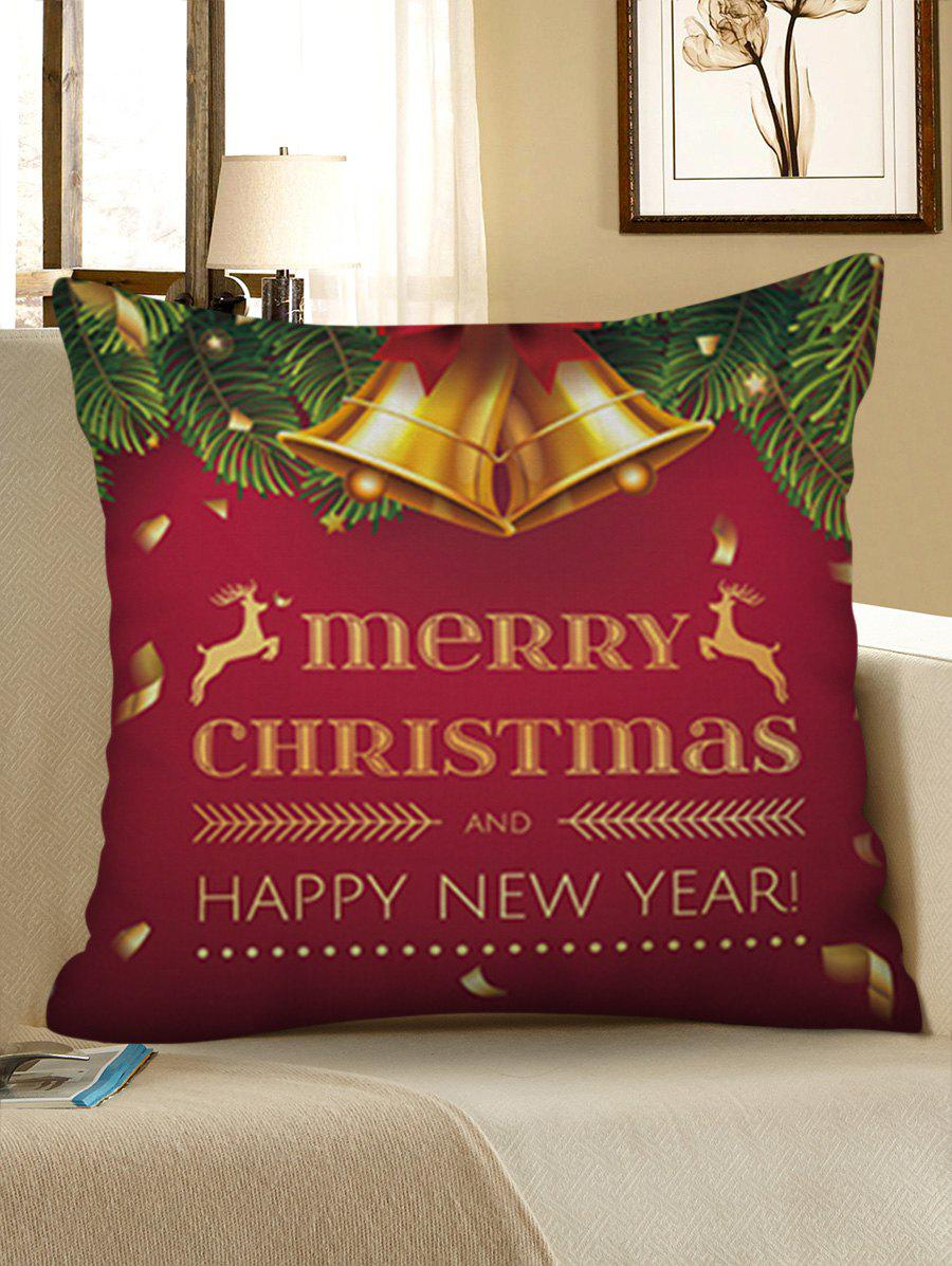 Outfits Merry Christmas Bell Printed Pillowcase