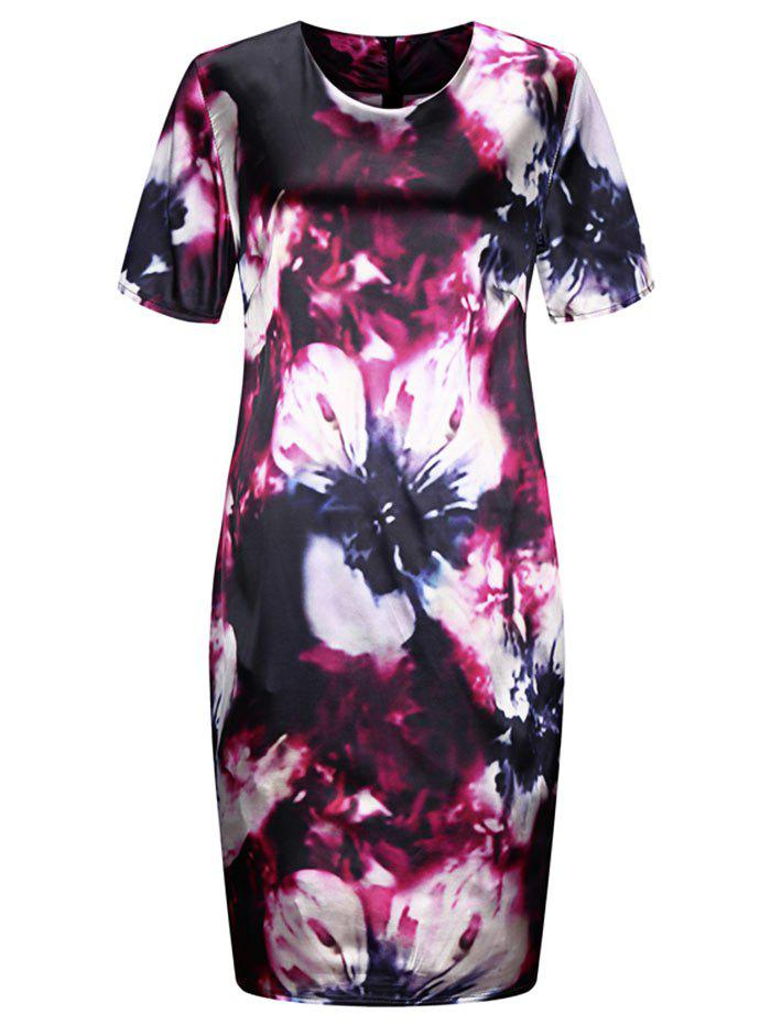 Outfit Plus Size Floral Tight Dress