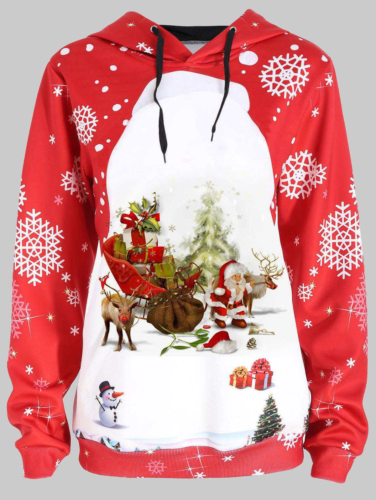 Outfits Plus Size Santa Claus Christmas Hoodie